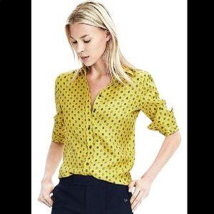 Banana Republic Dillon-Fit Long-Sleeve Silk Shirt